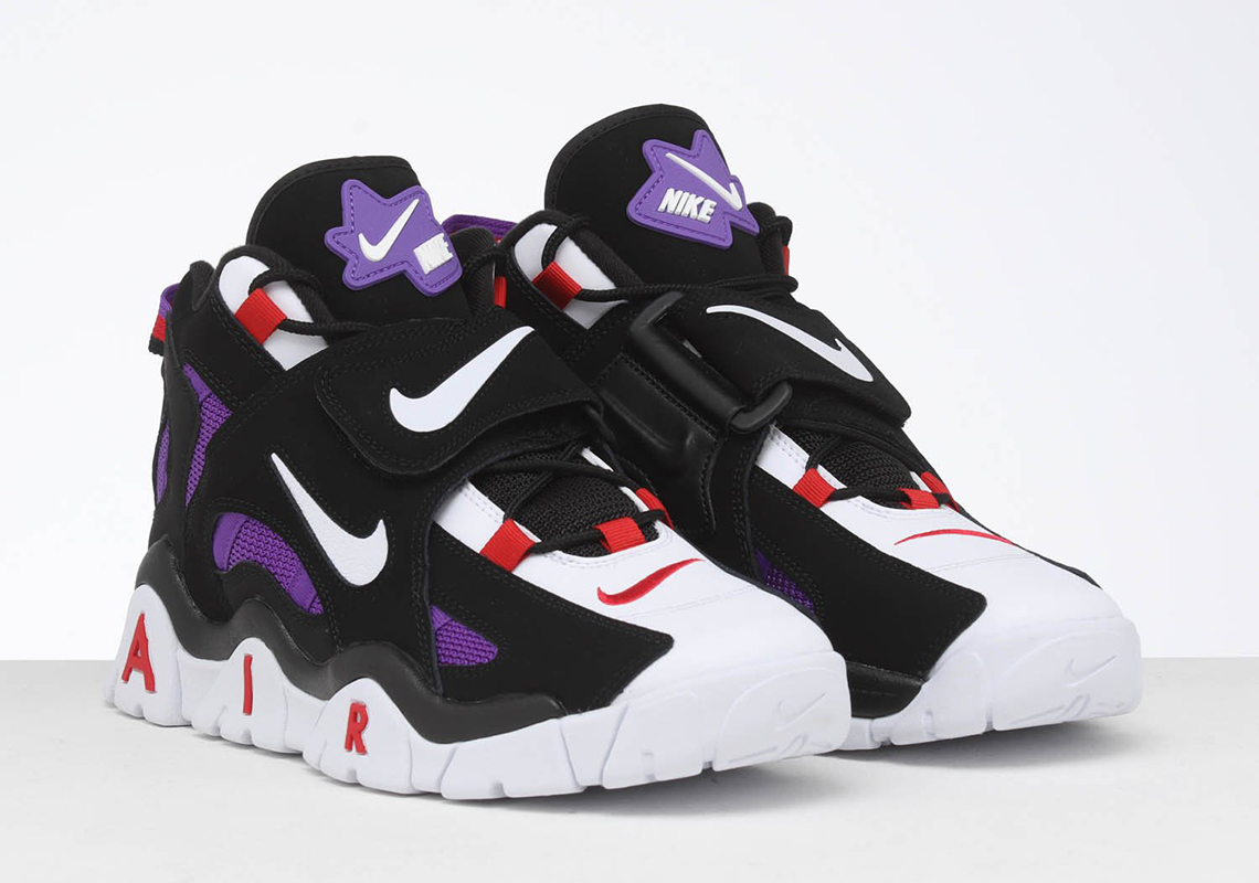 Nike Air Barrage Black White Purple