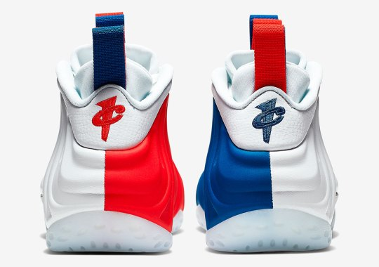 The Nike Air Foamposite One Celebrates July 4th With Asymmetric Color Blocking