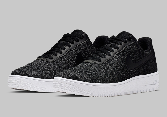 The Nike Air Force 1 Flyknit 2.0 Adds Heather Black Uppers