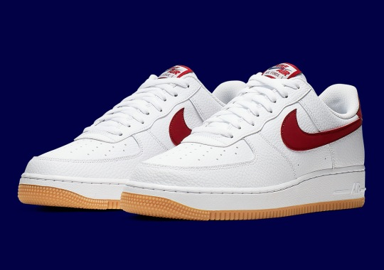 Gum Soles Return To The Nike Air Force 1 With Blue And Maroon Trim