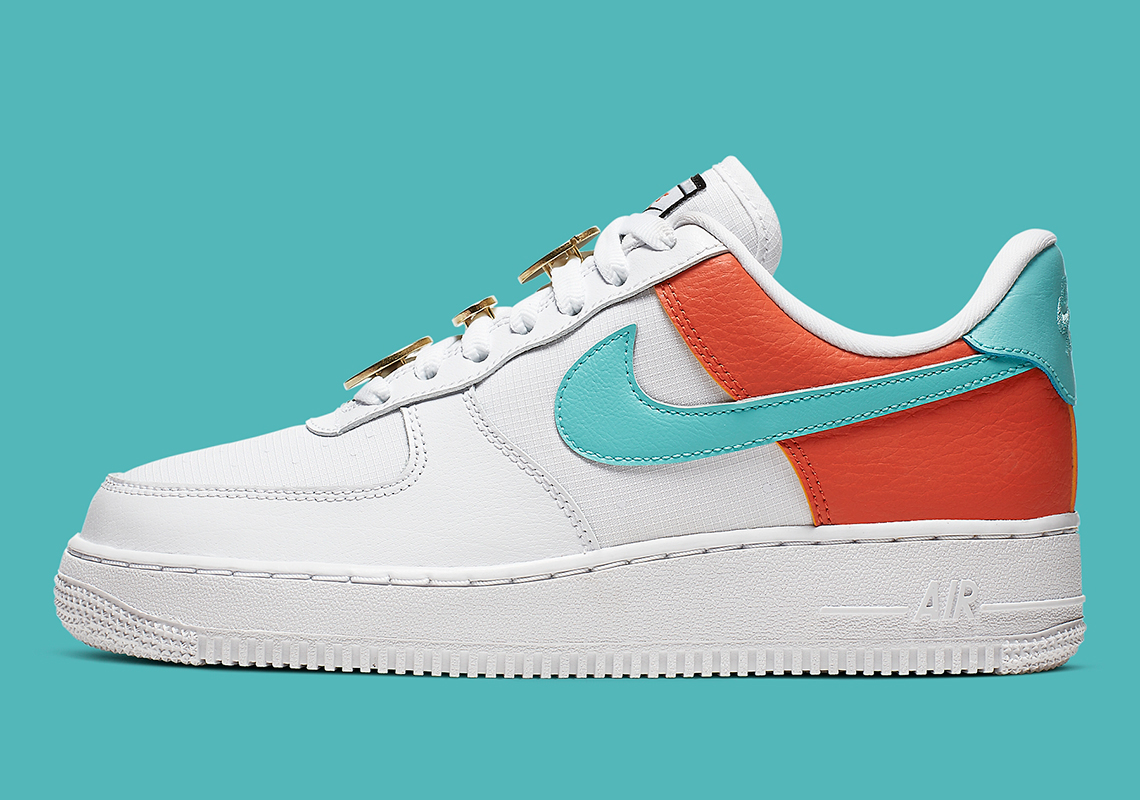 Nike Air Force 1 07 W shoes white turquoise