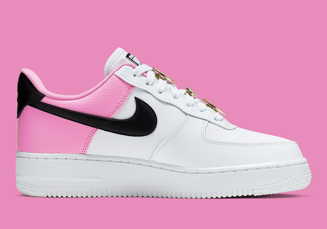 Nike Air Force 1 White Pink Black Aa0287 107 Store List