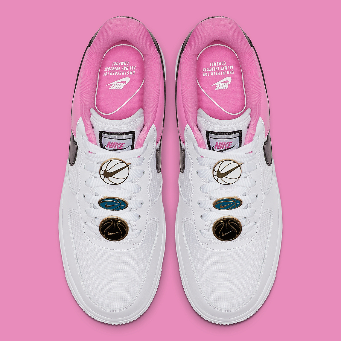 air force 1 rosa pelle
