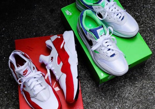 Nike Flips Colors On The Air Max 1 And Air Huarache For The DNA CH.1 Pack