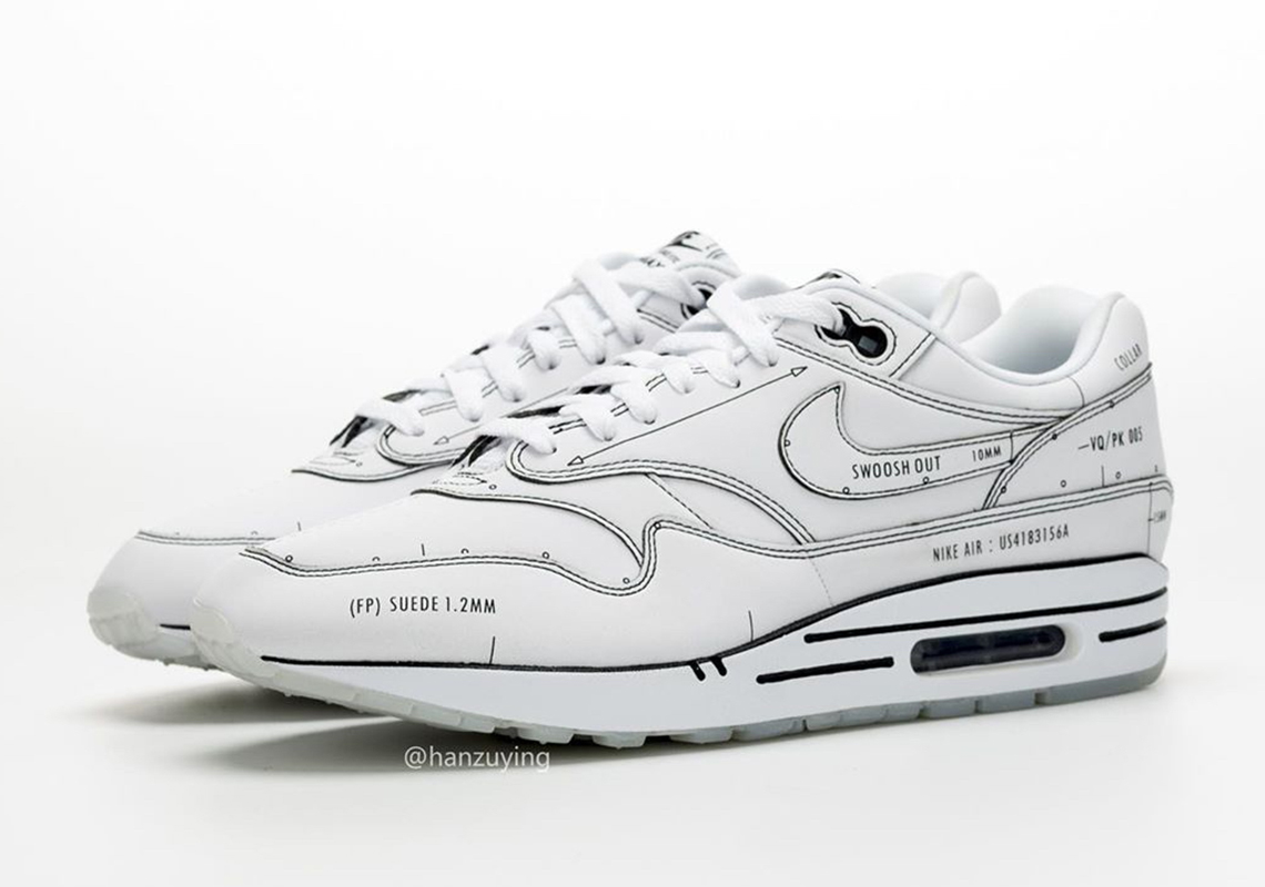 Nike Air Max 1 Schematic CJ4286 100 Release Info