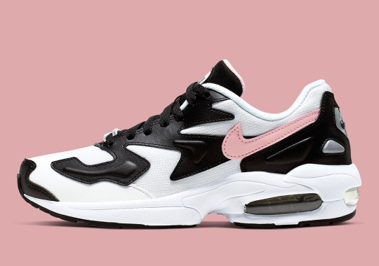 Nike's Air Max 2 Light Gets Pink Swooshes Against Black And White