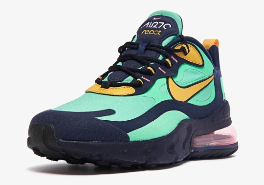 Nike Air Max 270 React Adds Obsidian Midsoles With Electro Green