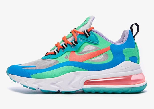 The Nike Air Max 270 React Infuses Translucent Panels On The Upper