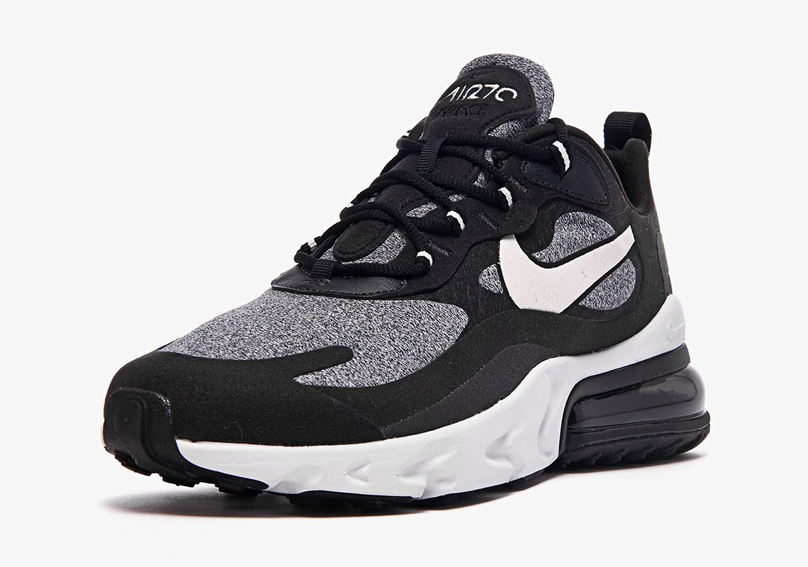 cheap for discount 59dba 7fc9f Nike Air Max 270 React Black Grey White AO4971-001 + AT6174 ...