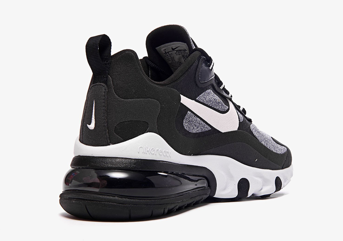 Nike Air Max 270 React Black Grey White Ao4971 001 At6174 001
