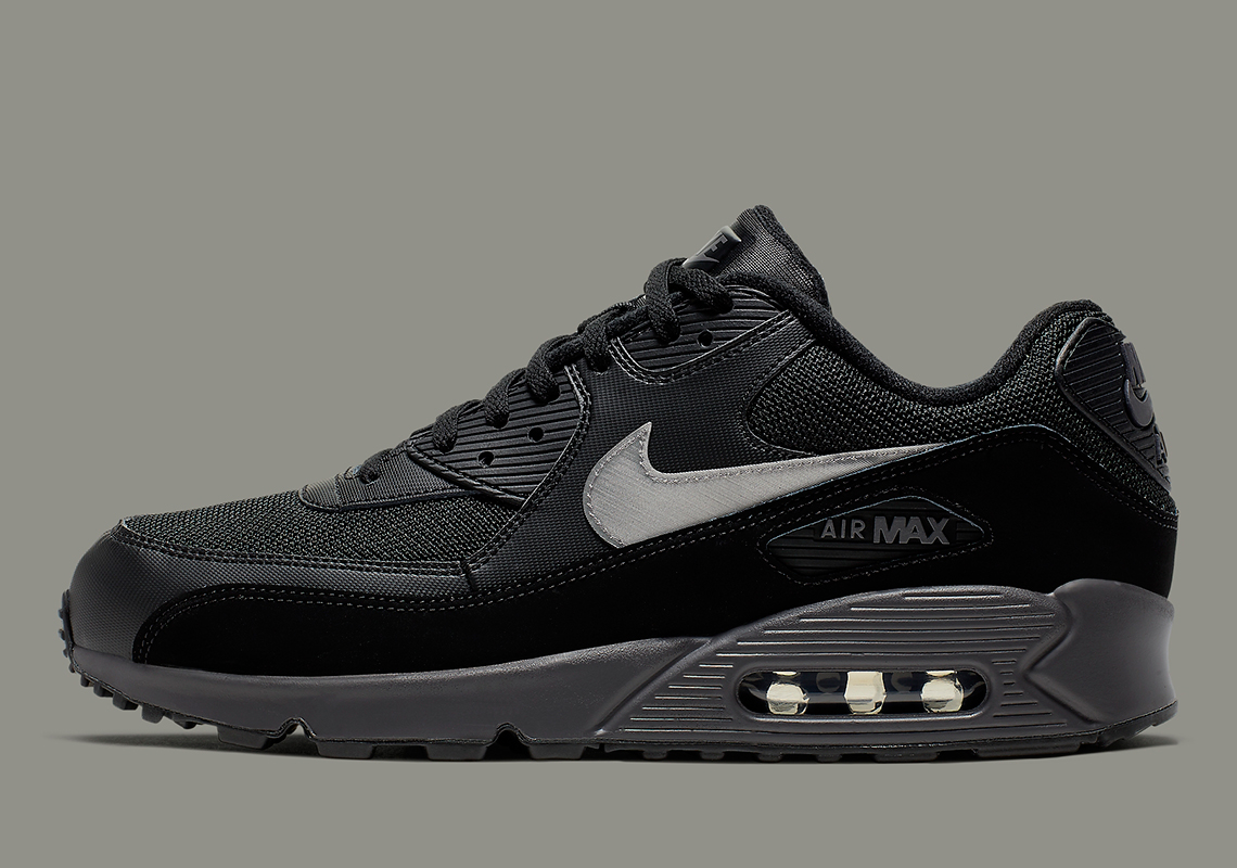 various colors brand new lower price with Nike Air Max 90 Black Silver AJ1285-023 Release Info ...