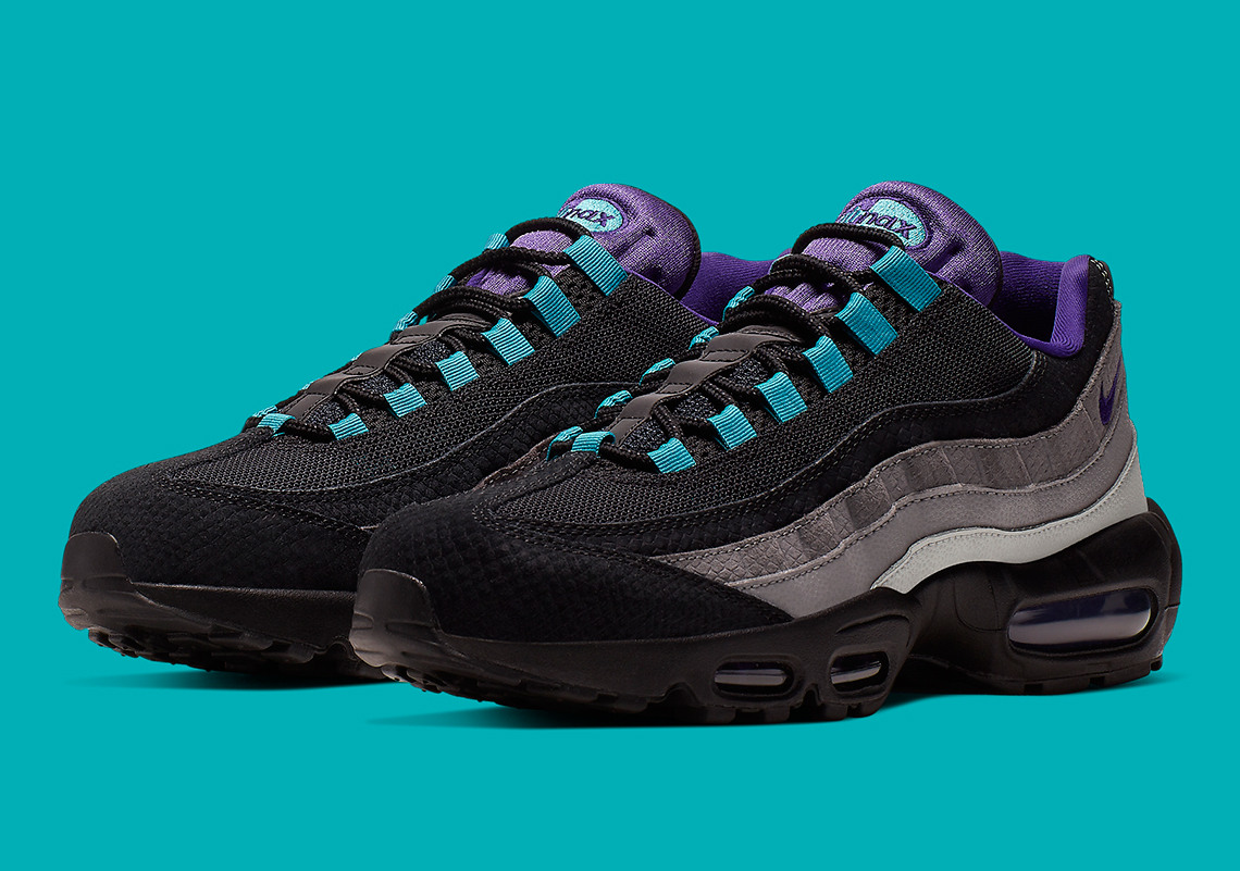chaussures de séparation 5812b e465c Nike Air Max 95 Black Court Purple Teal Nebula AO2450-002 ...