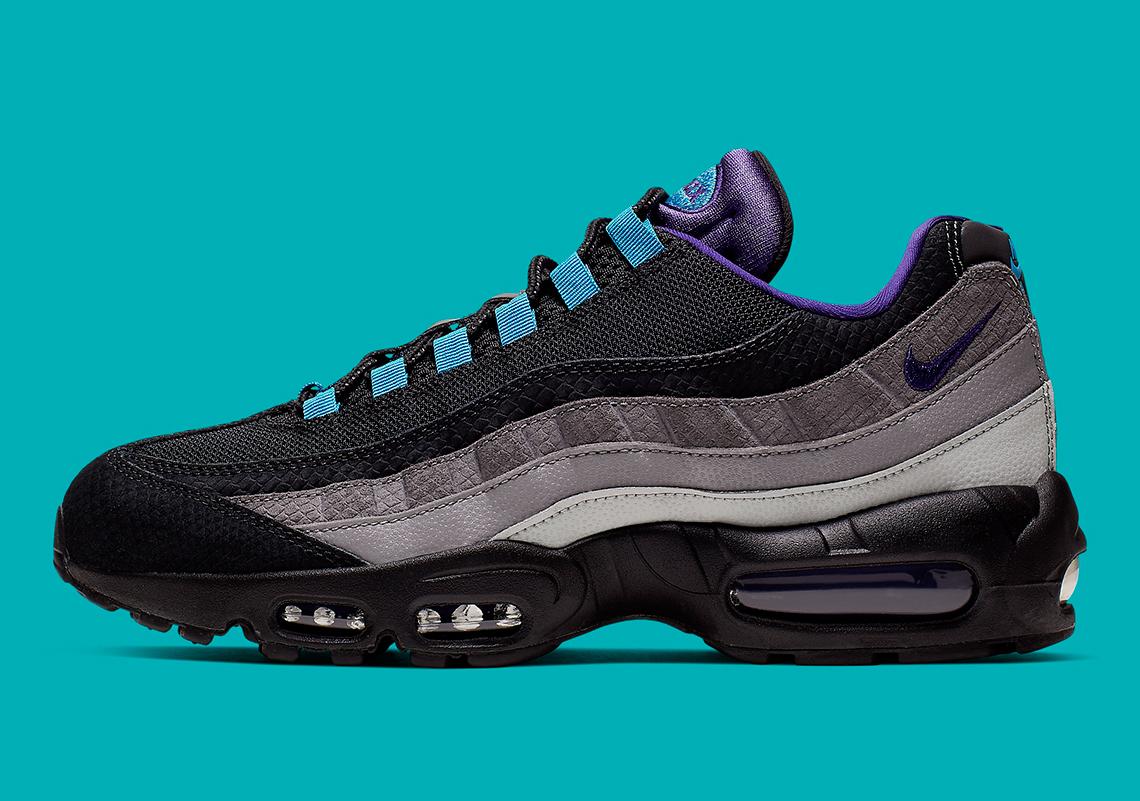 separation shoes 7a0c2 3ca96 Nike Air Max 95 Black Court Purple Teal Nebula AO2450-002 ...