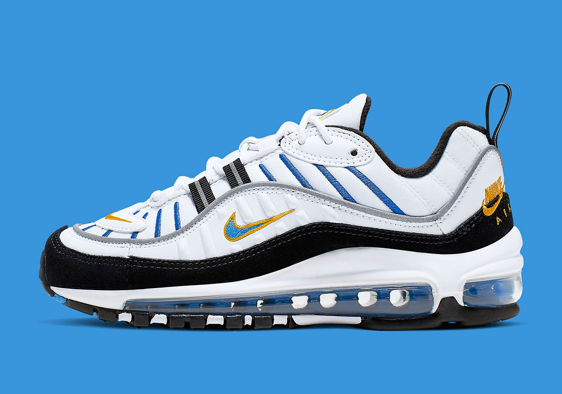 sale retailer 979b2 aba4b This Nike Air Max 98 Adds A Classic Logo On The Heel ...
