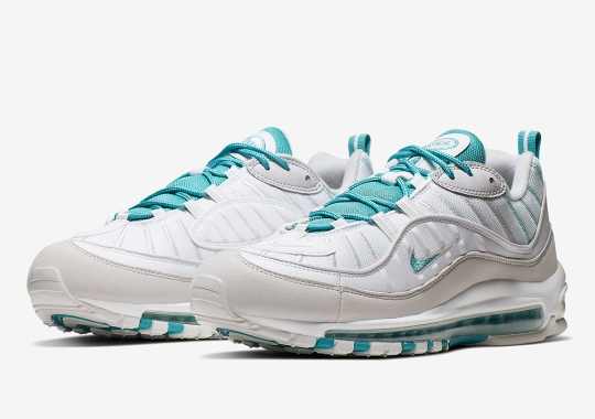 The Nike Air Max 98 Returns In Sail And Teal Uppers