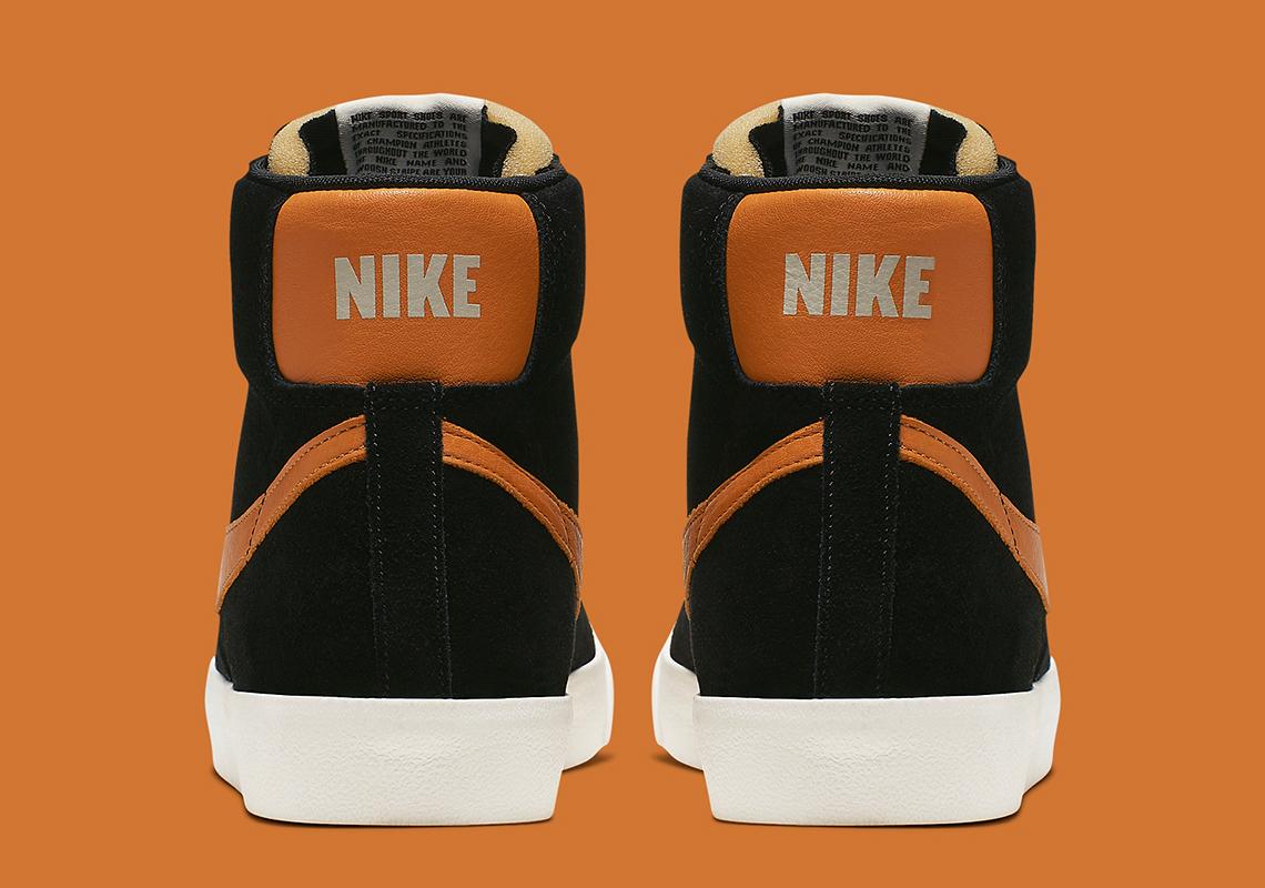 Nike Blazer Mid Vintage Black Orange CJ9693 001 Release Info