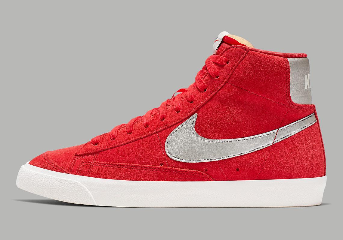 Nike Blazer Mid Vintage Red Silver