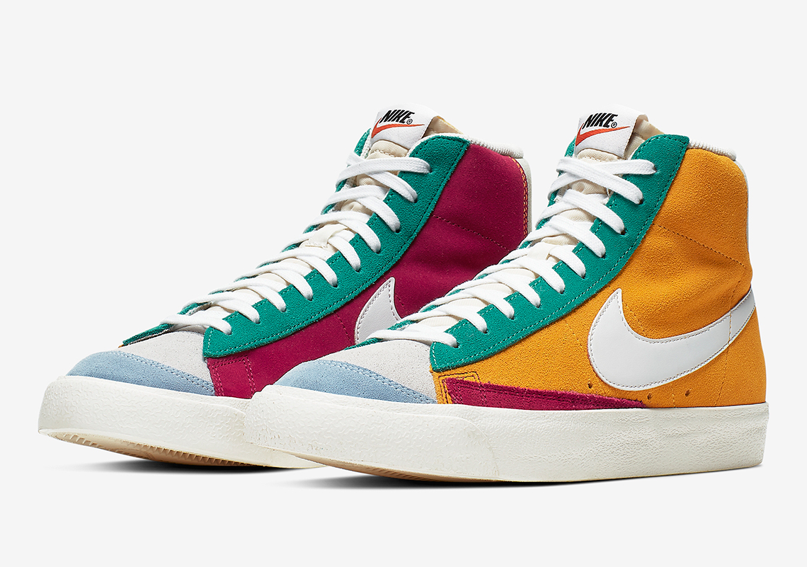 Nike Blazer Mid Vintage 77 Noble Red Kinetic Green Jade Aura ...