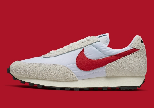 The Nike Daybreak SP In White and University Red Is Coming Soon