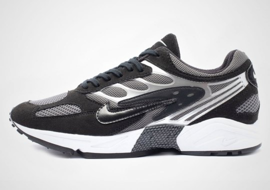 The Nike Air Ghost Racer Is Available In Black And Silver