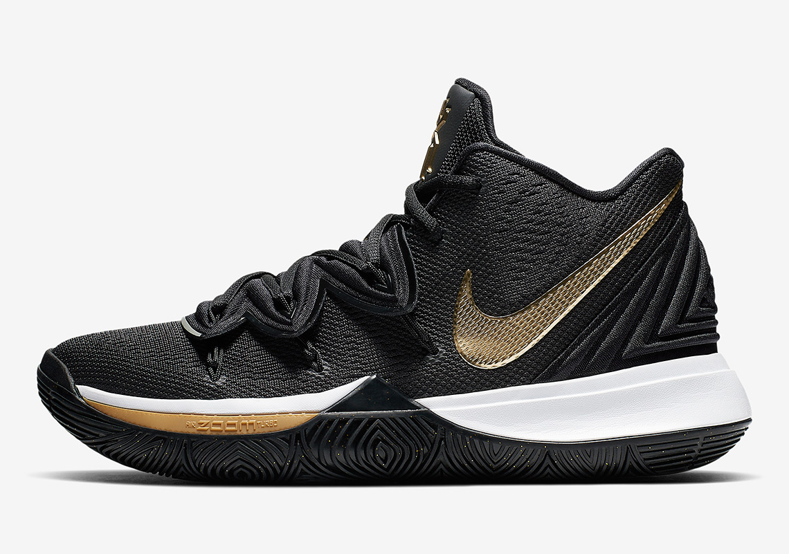 "The Nike Kyrie 5 ""Black/Metallic Gold"" Is Available Now"