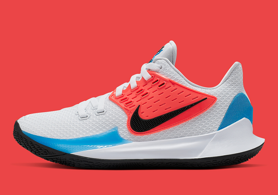 huge selection of 27219 8f5b1 Nike Kyrie Low 2 White Blue Crimson AV6337-100 Release Date ...
