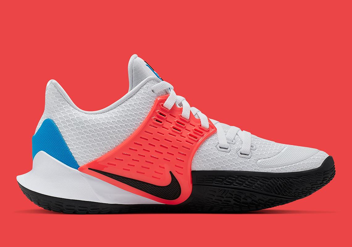 huge selection of 73775 2f37c Nike Kyrie Low 2 White Blue Crimson AV6337-100 Release Date ...