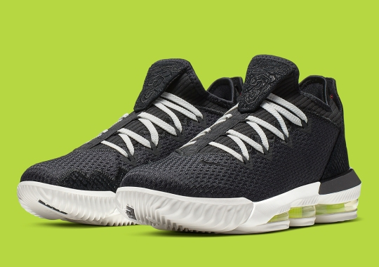 The Nike LeBron 16 Low Arrives In Black Python And Volt