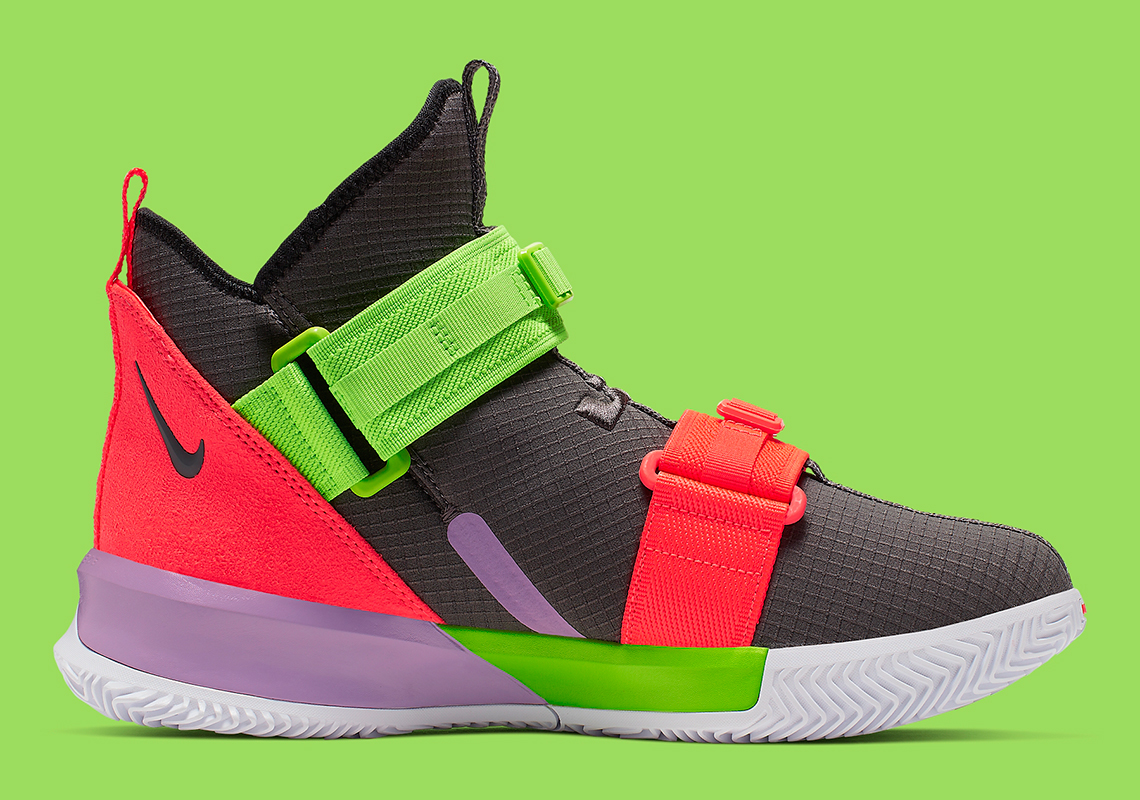 online store 7c116 4c4d9 Nike LeBron Solder 13 Thunder Grey AR4228-002 Release Date ...