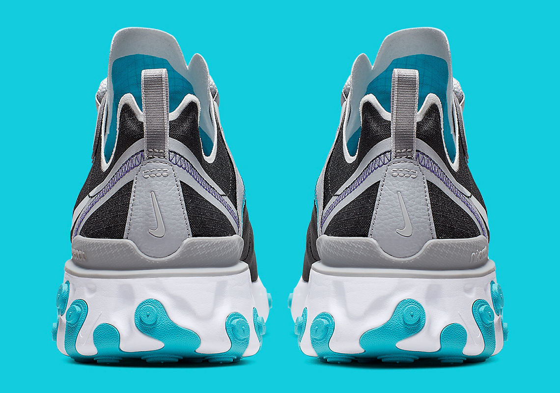 Nike React Element 55 Black Silver Turquoise BV1507-001 Release ...