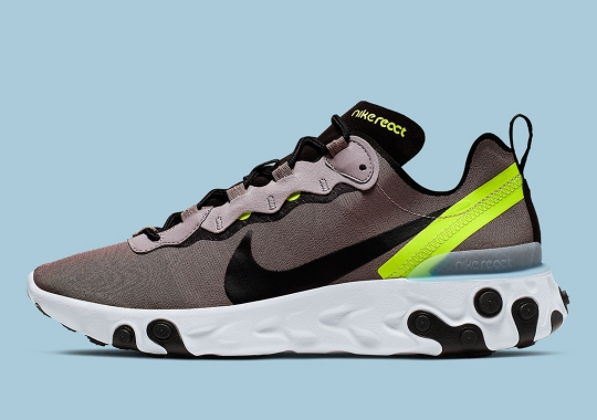 Nike React Element 55 Pairs Neutral Tones With A Hit Of Volt