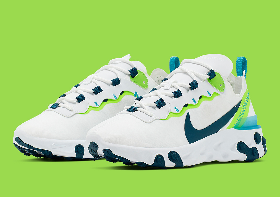 outlet store ee784 df089 Nike React Element 55 Seahawks BQ2728-102 Release Info ...