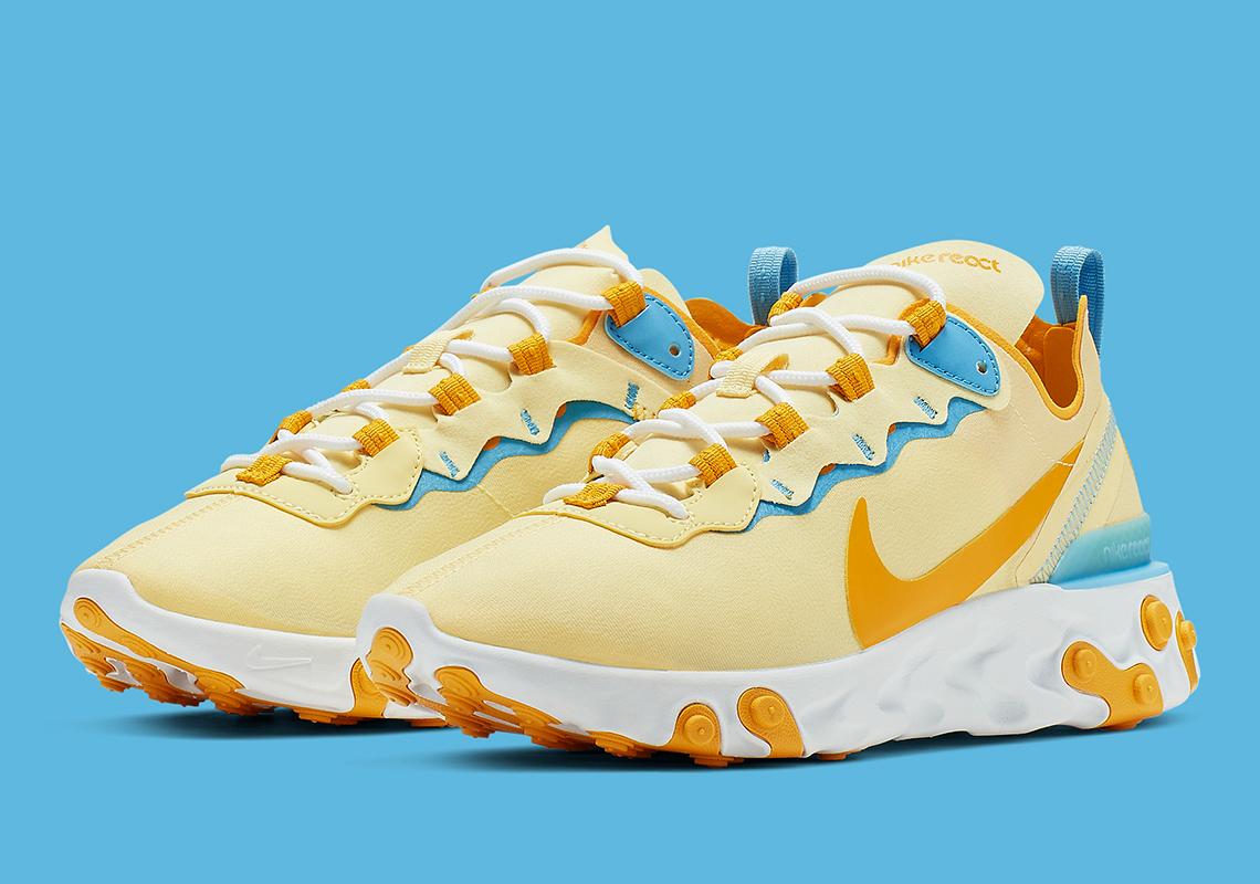 Nike React Element 55 Yellow Blue