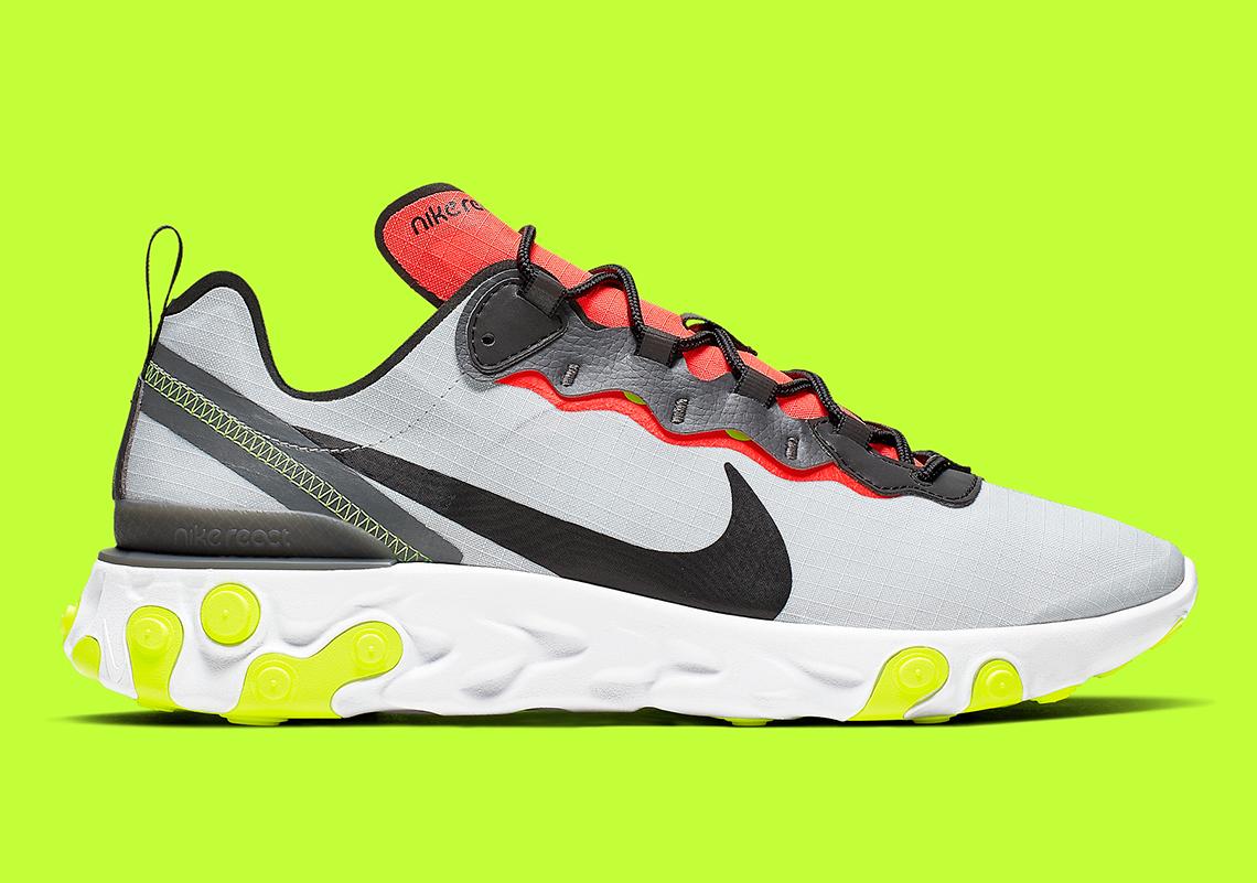 7a10e696a80f3 Nike React Element 55 $130. Color: Pure Platinum/Dark Grey/Bright  Crimson/Black