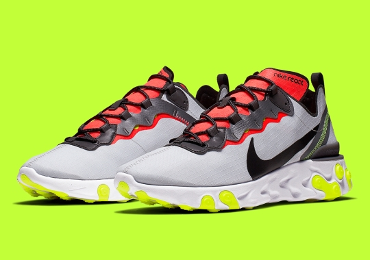 Nike Adds Crimson And Volt To The React Element 55