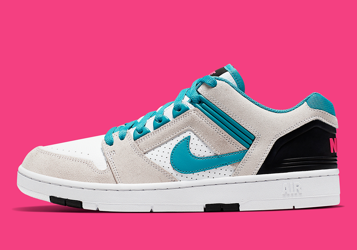 d98ec1141 The Nike SB Air Force 2 Appears In Nebula Blue And Pink Accents