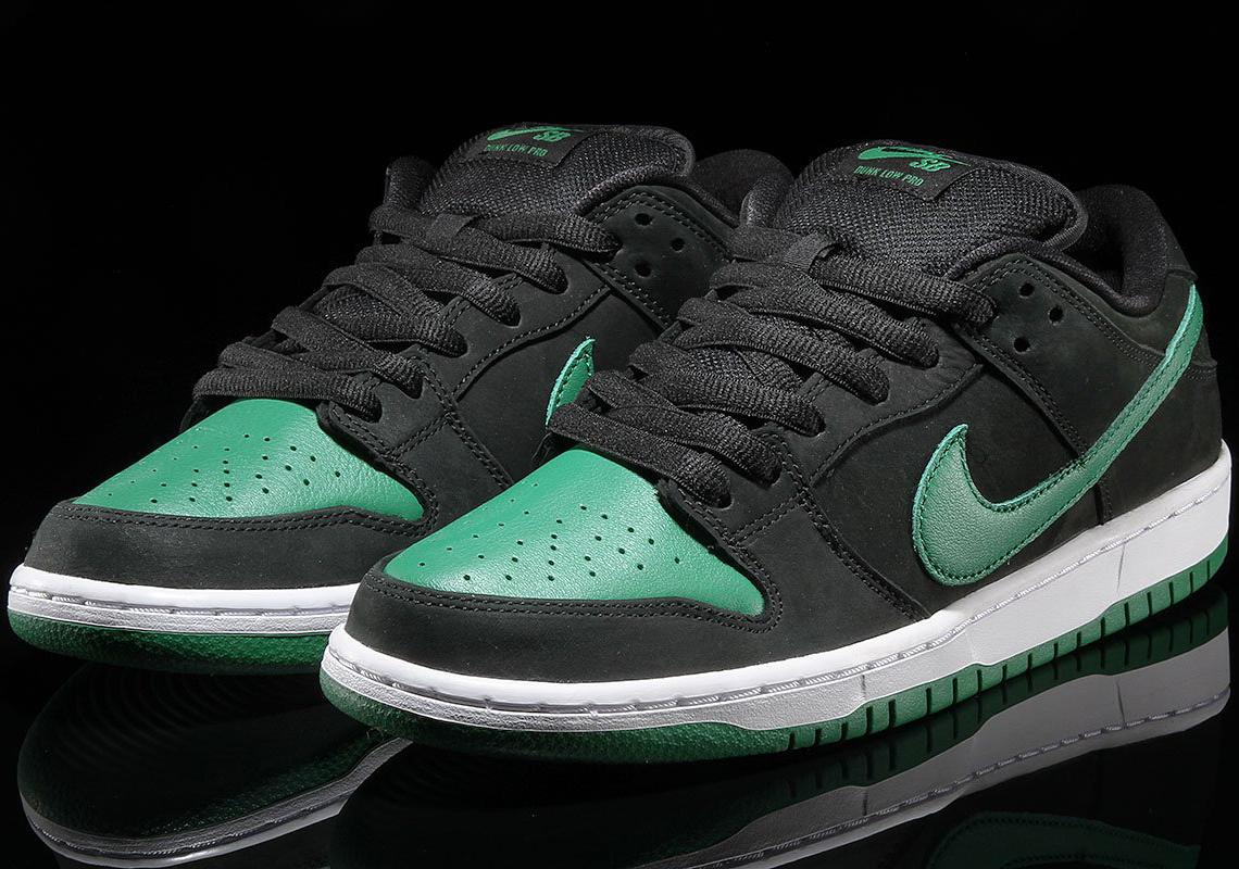 Nike Sb Dunk Low Pro J Pack Black Green Bq6817 005