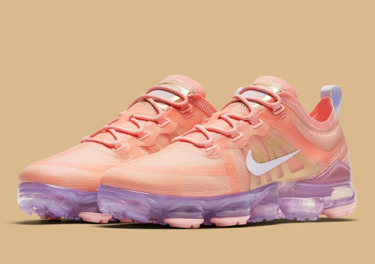 "The Nike Vapormax 2019 ""Bleached Coral"" Adds Purple Tinted Air Units"
