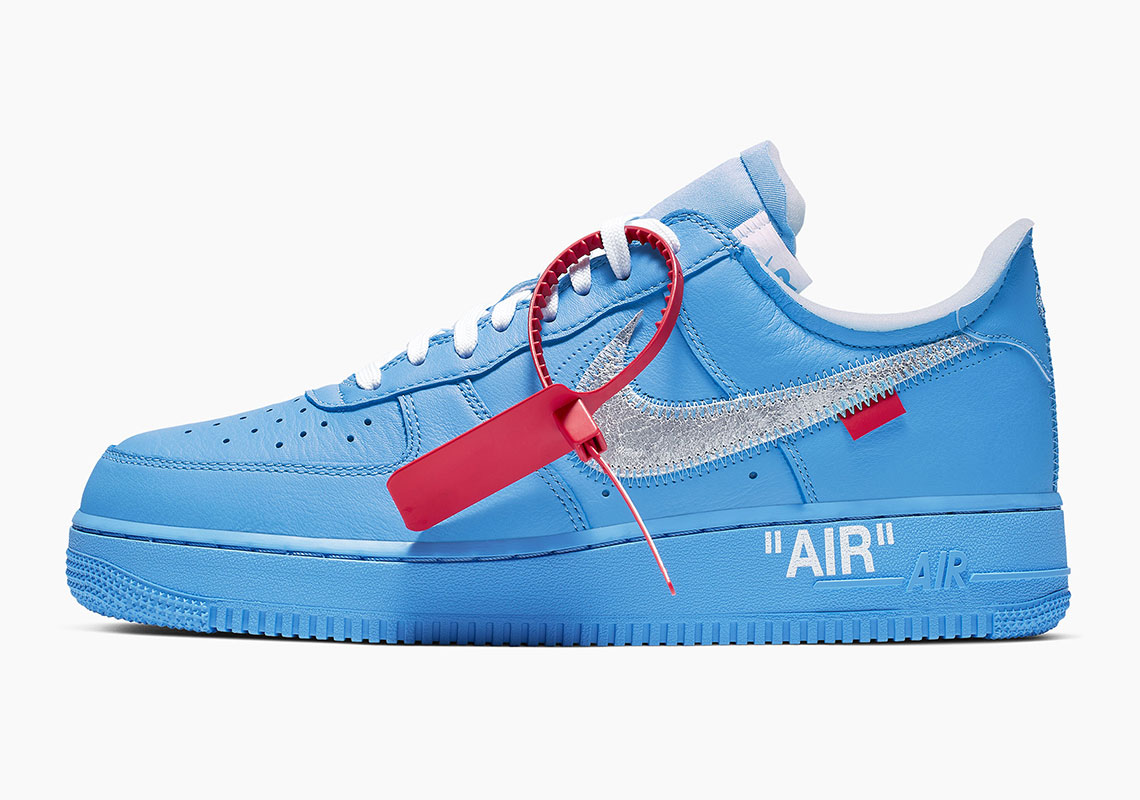save off 6e34b eee64 Off-White Nike Air Force 1 MCA Blue Release Info ...