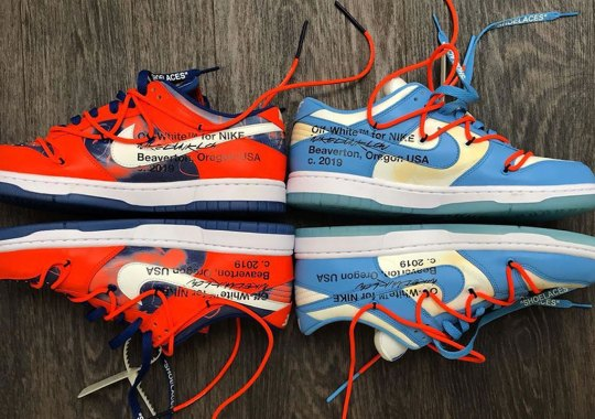 Off-White And Futura Unveil Nike Dunk Low Collaborations At Paris Fashion Week