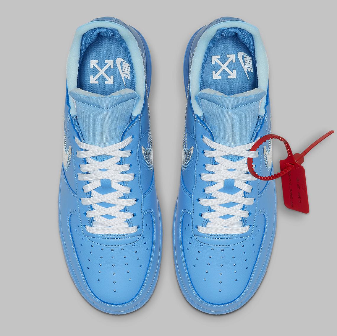 air force 1 blu x off white