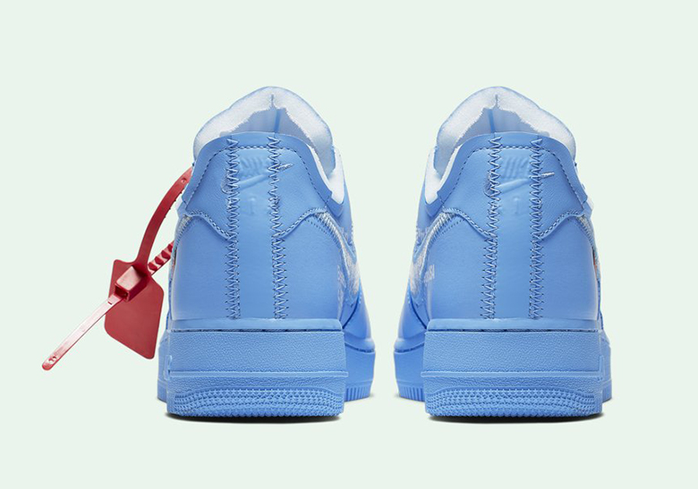 Off White Nike Air Force 1 Mca Blue Release Date Sneakernews Com