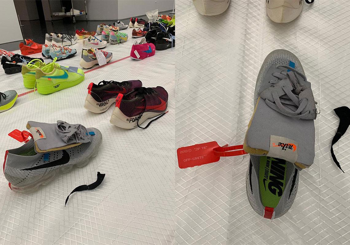 reputable site f1c81 54c54 Off-White Air Jordan 4 Sample MCA Chicago | SneakerNews.com