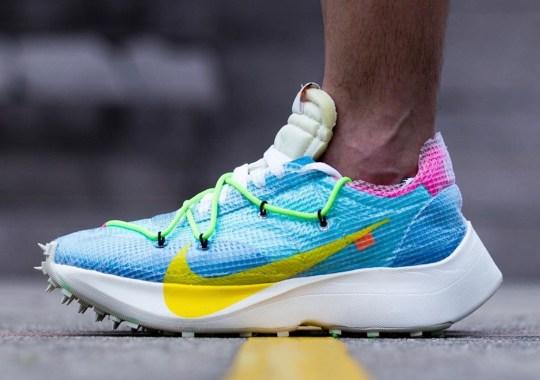 Here's What The Off-White x Nike Zoom Vapor Street Looks Like On Feet