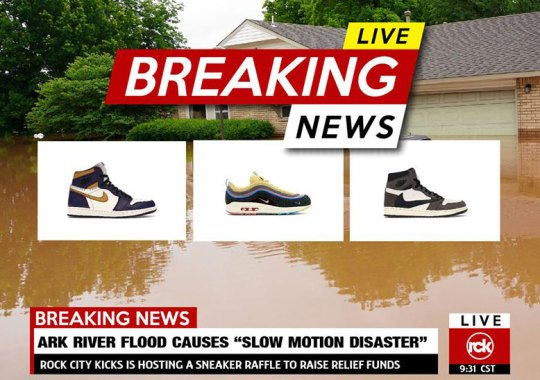 Rock City Kicks Raffles Off The Travis Scott x Air Jordan 1 And More For Arkansas Flood Relief