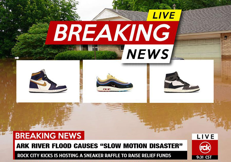 7d728ba3cfd Rock City Kicks Arkansas Relief Raffle Travis Scott AJ1 Info |  SneakerNews.com
