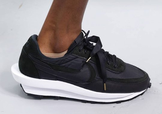 sacai and Nike Switch Up Materials With An All Black LDWaffle
