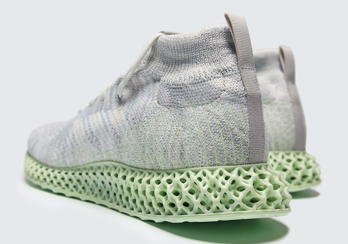 The adidas Consortium 4D Returns With A Grey And Aero Green Upper
