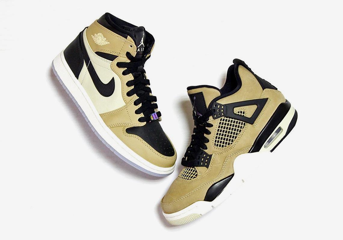 nice cheap skate shoes designer fashion Jordan Mushroom Pack AJ 1 AJ 4 AH7389-003 AQ9129-200 Release ...