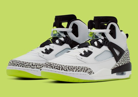The Jordan Spiz'ike Arrives With Volt Accents